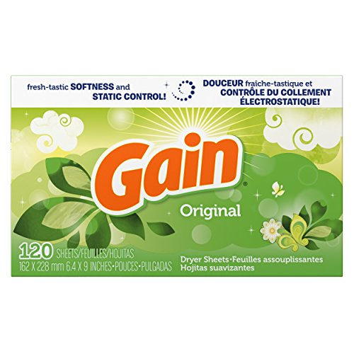 Gain Dryer Sheets, Original Scent, 120 count, (Pack of 6) (Gain Fabric Softener Sheets compare prices)