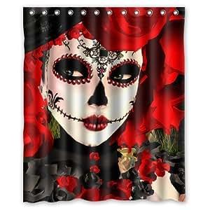 Yestore Superior Custom Dia De Los Muertos Suger Skull Waterproof Polyester Fabric