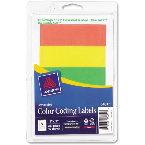 Colored Mailing Labels Write Color Coding Labels