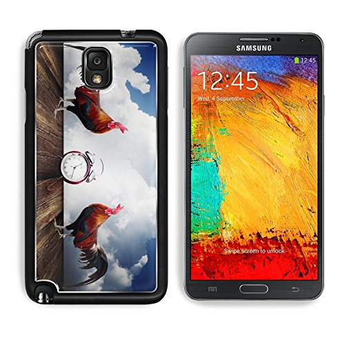 Samsung Galaxy Note 3 Aluminum Case Wake up with rooster crows concept IMAGE 26023624 by MSD Customized Premium Deluxe Pu Leather generation Accessories HD Wifi Luxury Protector (Rooster Wi Fi compare prices)