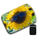 Groovy Cool Sunflower Wearing Sunglasses For Amazon Kindle Fire & Kindle 3G Keyboard Soft Protection Neoprene Case Cover Sleeve Bag With Pocket which is Ideal for Headphones, Data Cable etc