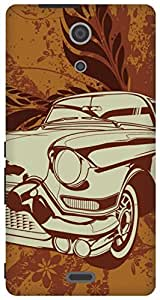 The Racoon Lean vintage ride hard plastic printed back case / cover for Sony Xperia ZR