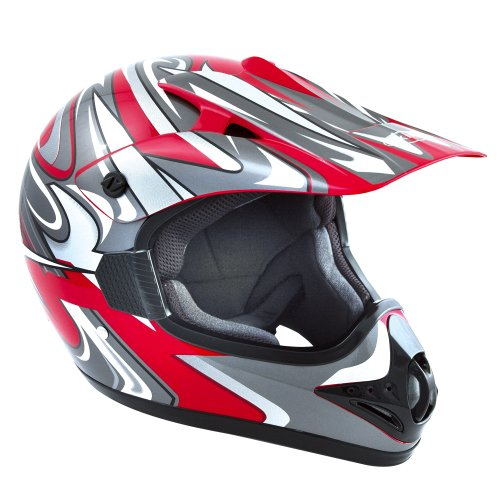 Akira 20216 XXL Ishido Motorcycle Helmet for MX/ Motocross/ Enduro - Red/ Graphic