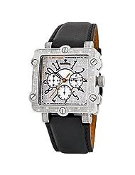 "JBW-Just Bling Men's JB-6223-E ""Mason"" Square Chronograph Diamonds Leather Watch"