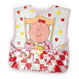 Baby Girl Munch Time Design Peva Painting Bib with Neck Tie
