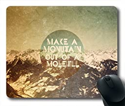 wskshop Triangles Mouse Pad, New Design Vintage Moutain Quotes Mouse Pad Rectangle Mousepads
