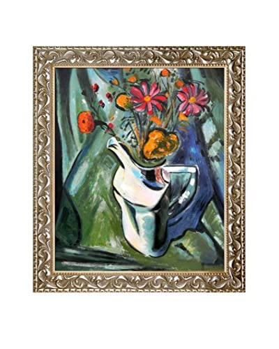 "Alfred Henry Maurer ""Floral Still Life"" Framed Hand-Painted Oil Reproduction"