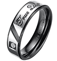 buy Adtl Men'S Promise Diamond Ring Engagement Wedding Band Stainless Steel Accessories Available Size 7