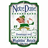 NCAA Notre Dame Fighting Irish 11-by-17 Wood Sign at Amazon.com