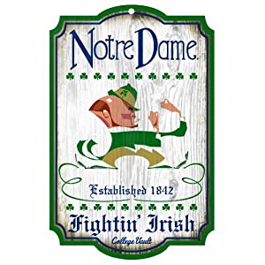 Buy NCAA Notre Dame Fighting Irish 11-by-17 Wood Sign by WinCraft