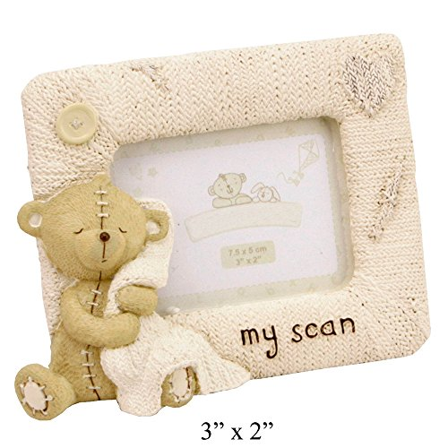 Teddy Bear Clutching Blanket Photo Frame By Haysom Interiors