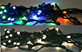 LED 50ct Light String Multi or Clear Battery Operated with Timer