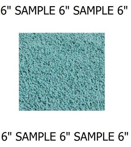"Soft Aqua Blue/Green - Sample 6"" Sample Custom Carpet Area Rug"