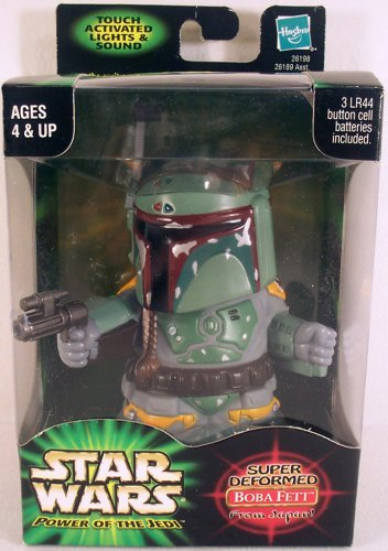 "Star Wars Power of the Jedi Super Deformed Boba Fett from Japan"" with Touch A... - 1"