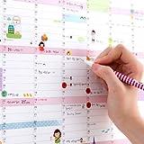 Nouveau 2016 Calendrier mural Planificateur mensuel papier Hanging Sticker Home Office Decor...