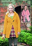 Sirdar Ladies Bonus Aran Coats with Collar or Hood Knitting Pattern 9794