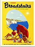 Sunny Broadstairs, Kent Travel Poster (30x40cm Art Print)