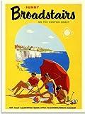 Sunny Broadstairs, Kent Travel Poster (30x40cm Art Print)