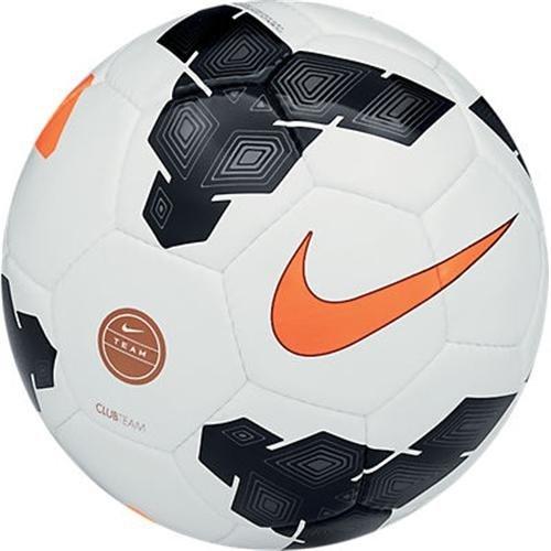 Nike Club Team Palla, Uomo, Bianco/Nero/Arancione/Grigio, 4