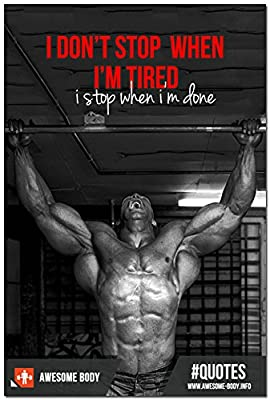 Do Not Stop - Bodybuilding Fitness Motivational Art Silk Poster 20x30 inches