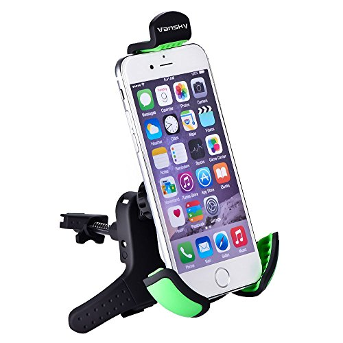 Car mount, Vansky® 2015 New Version Air Vent Universal Car Mount Holder for iPhone 6 (4.7)/ iPhone 6 Plus (5.5)/ 5s/ 5c/, Samsung Galaxy S6/S6 Edge/S5/S4 Note 4/3, Google Nexus 6/5/4, LG G4/3, HTC One M9/M8/M7 and More Phone Models