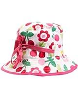 Toby Tiger Cherry Flower Reversible Sunhat Baby Girl's Hat