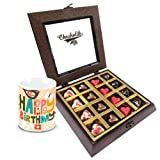 Equinoxes Dulcey Heart Chocolates With Birthday Mug - Chocholik Belgium Chocolates