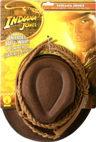 Indiana Jones Hat and Whip Set: Child's One Size Fits All, large, blue by Rubie's