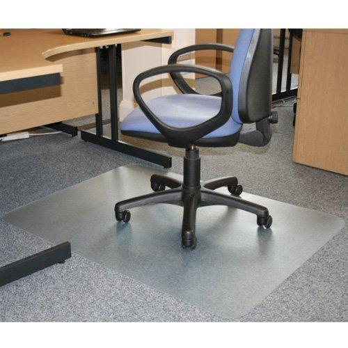 JVL office desk chair mat rectangular shaped without grips 90 x 120cm pvc for hard floors