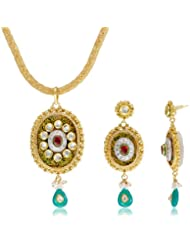Niki Jewels Meenakari Pendant Jewellery set for women (Multi colour) (00515 234)