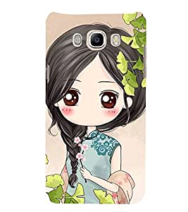 99Sublimation Girl with flower in hand 3D Hard Polycarbonate Back Case Cover for Samsung Galaxy J7 2016 (Duos, 10F, 10FN, 10M, 10H)