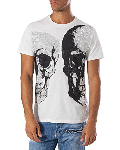 "PHILIPP PLEIN ""BIPOLAR"" Herren T-Shirt - White thumbnail"