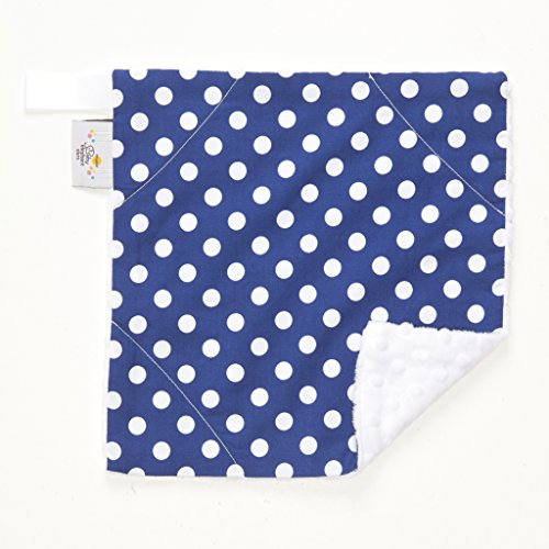 "Baby Elephant Ears Ultra Soft Baby Blanket (Mini (12""x12""), Blue Dot)"