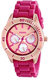 Fossil Women's ES3535 Stella Analog Display Analog Quartz Pink Watch
