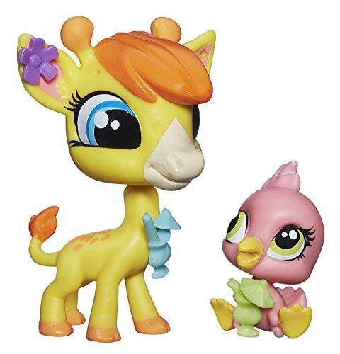 Littlest Pet Shop Pierre de Long & Siesta Perez - Giraffe & Pink Flamingo - 1