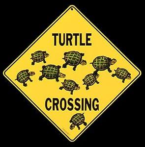 Amazon.com : Turtle Crossing Sign : Yard Signs : Patio, Lawn & Garden