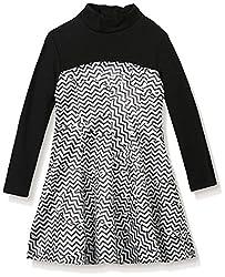 Kenzo Kid's Zig-Zag Dress, Black, 8