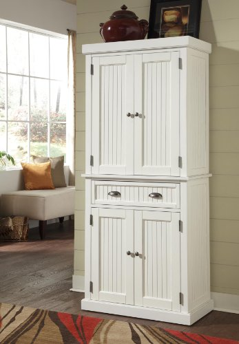 Home Styles 5022-69 Nantucket Pantry, Distressed White Finish (Kitchen Cupboards compare prices)