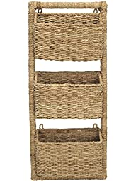 KOUBOO 3 Pocket Wall Magazine Rack in Twisted Sea Grass