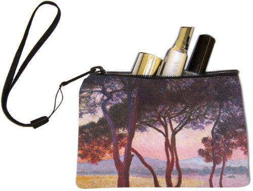Rikki Knighttm Claude Monet Art Juan Les Pins Keys Coins Cards Cosmetic Mini Clutch Wristlet
