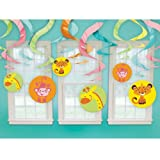 Fisher Price Hanging Swirl Decorations Baby Shower Monkey Jungle Party Supplies