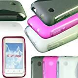 NEW STYLISH BLACK GEL JELLY SLIM S LINE CASE COVER SKIN FOR SONY XPERIA TIPO ST21i