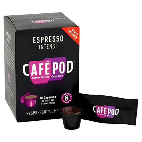 Purchase CafePod Nespresso Compatible Intense Capsules 10 per pack - CafePod