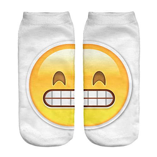 Calze sportiva alla caviglia Speedcat Sneaker 36 - 40 Motivo 3D Emoji grinning Big [001]