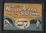 The Western Reserve Tackle Company ~ Quality Made Wigglers Spinners & Spoons Plaque Picture Decor