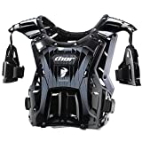 Thor MX Quadrant Protector Men&#8217;s Roost Deflector Dirt Bike Motorcycle Body Armor &#8211; Black/White / One Size
