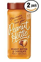 Pack of 2 - 9.15 oz Peanut Hottie Peanut Butter & Chocolate Flavored Hot Drink 9.15 oz made by Peanut Hottie