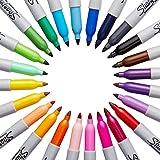 Sharpie Fine-Tip Permanent Marker, 24-Pack Assorted Colors