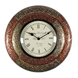 Home And Bazaar Traditional Rajasthani Wall Clock With Brass & Copper Finish