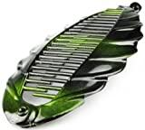 Fish Clip Clamp Two Tone Comb Ponytail Hair Grip Banana Hair Slide 2 Tone Green